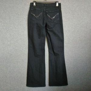 NYDJ Mid-Rise BootCut Jeans Stretch Black 8S